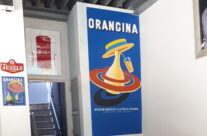 Orangina vintage muurschildering
